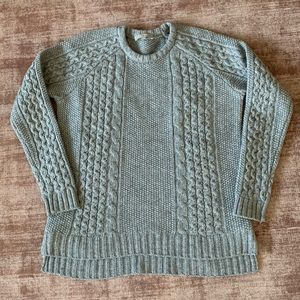 Joan Vass Cable Knit Sweater M
